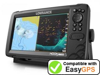 Download your Lowrance HOOK Reveal 9 waypoints and tracklogs for free with EasyGPS
