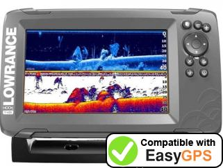 Download your Lowrance HOOK2-7 waypoints and tracklogs for free with EasyGPS