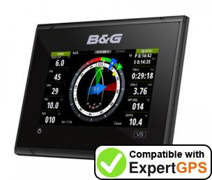 Download your B&G Vulcan 5 waypoints and tracklogs and create maps with ExpertGPS