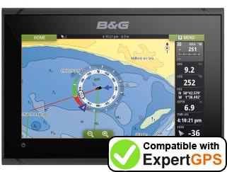 Download your B&G Vulcan 9 waypoints and tracklogs and create maps with ExpertGPS