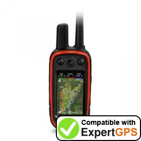 Download your Garmin Alpha 100 waypoints and tracklogs and create maps with ExpertGPS