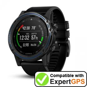 Download your Garmin Descent Mk1 waypoints and tracklogs and create maps with ExpertGPS
