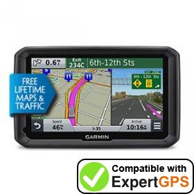 Download your Garmin dēzl 570LMT waypoints and tracklogs and create maps with ExpertGPS