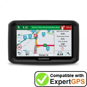 Download your Garmin dēzl 580 LMT-S waypoints and tracklogs and create maps with ExpertGPS