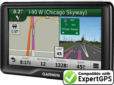 Download your Garmin dezl 760LMT waypoints and tracklogs and create maps with ExpertGPS