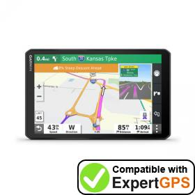 Download your Garmin dēzl LGV800 waypoints and tracklogs and create maps with ExpertGPS