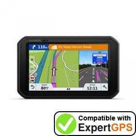Download your Garmin dēzlCam 785 waypoints and tracklogs and create maps with ExpertGPS
