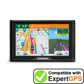 Download your Garmin Drive 40 waypoints and tracklogs and create maps with ExpertGPS