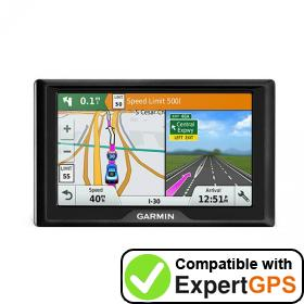 Download your Garmin Drive 5 waypoints and tracklogs and create maps with ExpertGPS