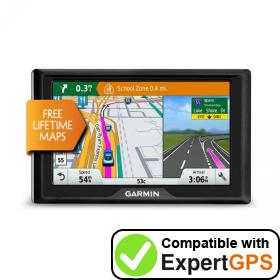 Download your Garmin Drive 50LM waypoints and tracklogs and create maps with ExpertGPS