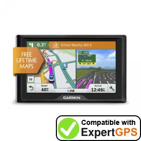 Download your Garmin Drive 51 EX waypoints and tracklogs and create maps with ExpertGPS