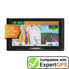 Download your Garmin Drive 6 LM EX waypoints and tracklogs and create maps with ExpertGPS