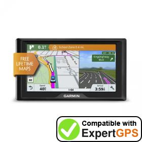 Download your Garmin Drive 61 LM waypoints and tracklogs and create maps with ExpertGPS