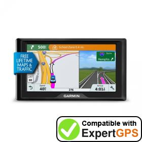 Download your Garmin Drive 61 LMT-S waypoints and tracklogs and create maps with ExpertGPS