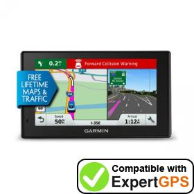 Download your Garmin DriveAssist 50LMT waypoints and tracklogs and create maps with ExpertGPS