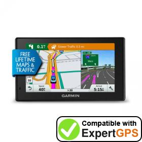Download your Garmin DriveSmart 50LMTHD waypoints and tracklogs and create maps with ExpertGPS