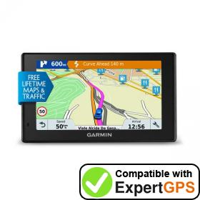 Download your Garmin DriveSmart 51 LMT-D waypoints and tracklogs and create maps with ExpertGPS