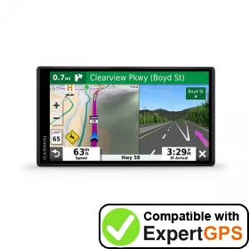 Download your Garmin DriveSmart 55 EX waypoints and tracklogs and create maps with ExpertGPS
