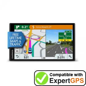 Download your Garmin DriveSmart 61 LMT-S waypoints and tracklogs and create maps with ExpertGPS