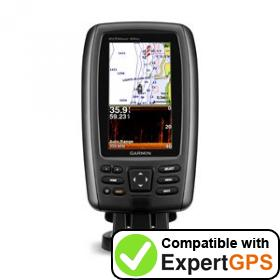 Download your Garmin echoMAP 44dv waypoints and tracklogs and create maps with ExpertGPS