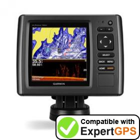 Download your Garmin echoMAP 53dv waypoints and tracklogs and create maps with ExpertGPS