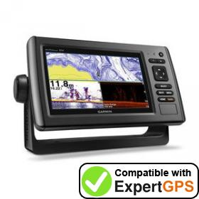 Download your Garmin echoMAP 74dv waypoints and tracklogs and create maps with ExpertGPS