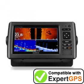 Download your Garmin echoMAP 74sv waypoints and tracklogs and create maps with ExpertGPS