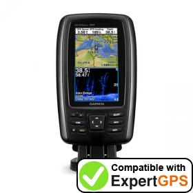 Download your Garmin echoMAP CHIRP 42dv waypoints and tracklogs and create maps with ExpertGPS