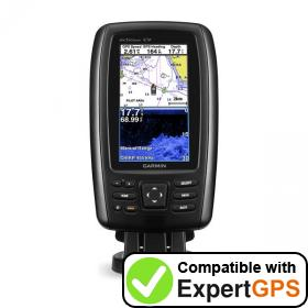 Download your Garmin echoMAP CHIRP 44cv waypoints and tracklogs and create maps with ExpertGPS