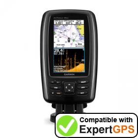 Download your Garmin echoMAP CHIRP 45cv waypoints and tracklogs and create maps with ExpertGPS