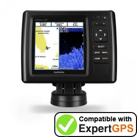 Download your Garmin echoMAP CHIRP 52cv waypoints and tracklogs and create maps with ExpertGPS