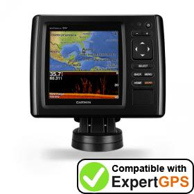 Download your Garmin echoMAP CHIRP 52dv waypoints and tracklogs and create maps with ExpertGPS