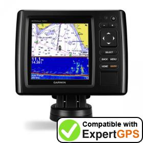 Download your Garmin echoMAP CHIRP 54cv waypoints and tracklogs and create maps with ExpertGPS