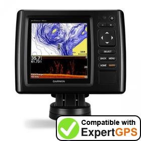 Download your Garmin echoMAP CHIRP 55dv waypoints and tracklogs and create maps with ExpertGPS
