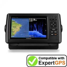 Download your Garmin echoMAP CHIRP 72dv waypoints and tracklogs and create maps with ExpertGPS
