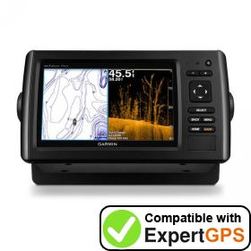 Download your Garmin echoMAP CHIRP 73dv waypoints and tracklogs and create maps with ExpertGPS