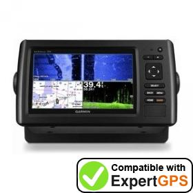 Download your Garmin echoMAP CHIRP 74sv waypoints and tracklogs and create maps with ExpertGPS