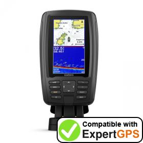 Download your Garmin ECHOMAP Plus 44cv waypoints and tracklogs and create maps with ExpertGPS