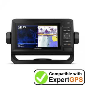 Download your Garmin ECHOMAP Plus 63cv waypoints and tracklogs and create maps with ExpertGPS