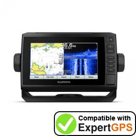 Download your Garmin ECHOMAP Plus 72sv waypoints and tracklogs and create maps with ExpertGPS