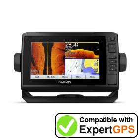 Download your Garmin ECHOMAP Plus 73sv waypoints and tracklogs and create maps with ExpertGPS