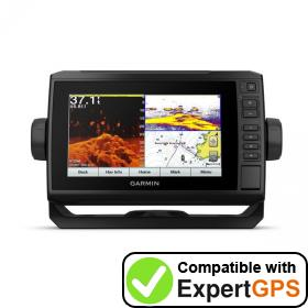 Download your Garmin ECHOMAP Plus 74cv waypoints and tracklogs and create maps with ExpertGPS