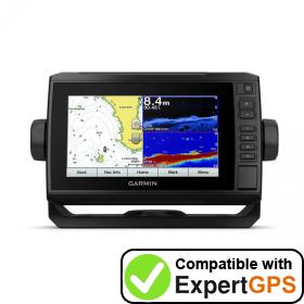 Download your Garmin ECHOMAP Plus 75cv waypoints and tracklogs and create maps with ExpertGPS