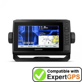 Download your Garmin ECHOMAP Plus 75sv waypoints and tracklogs and create maps with ExpertGPS