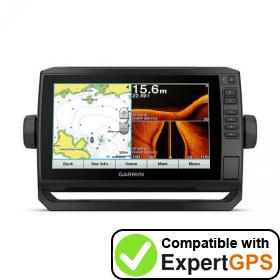Download your Garmin ECHOMAP Plus 92sv waypoints and tracklogs and create maps with ExpertGPS
