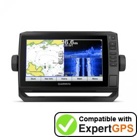 Download your Garmin ECHOMAP Plus 97sv waypoints and tracklogs and create maps with ExpertGPS