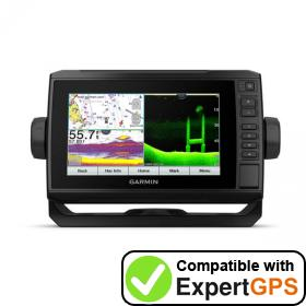 Download your Garmin ECHOMAP UHD 74cv waypoints and tracklogs and create maps with ExpertGPS