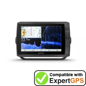 Download your Garmin ECHOMAP Ultra 105sv waypoints and tracklogs and create maps with ExpertGPS