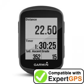 Download your Garmin Edge 130 waypoints and tracklogs and create maps with ExpertGPS