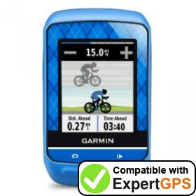 Download your Garmin Edge 510 waypoints and tracklogs and create maps with ExpertGPS